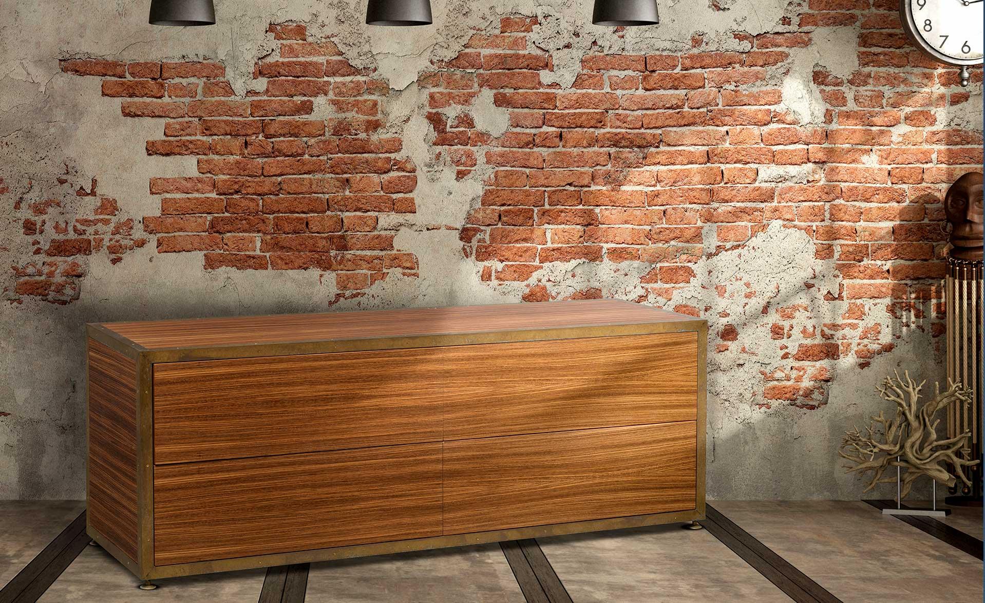 cassettiera-a-4-cassetti-push-and-pull-in-legno-zebrano-ottone-vendita-arredamento-di-design-asolo-treviso-vicenza-italia-a