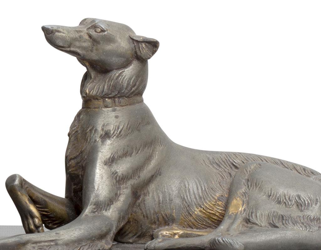 orologio-in-marmo-e-bronzo-deco-anni-30-cane-donna-vendita-arredamento-di-design-asolo-treviso-vicenza-italia-b